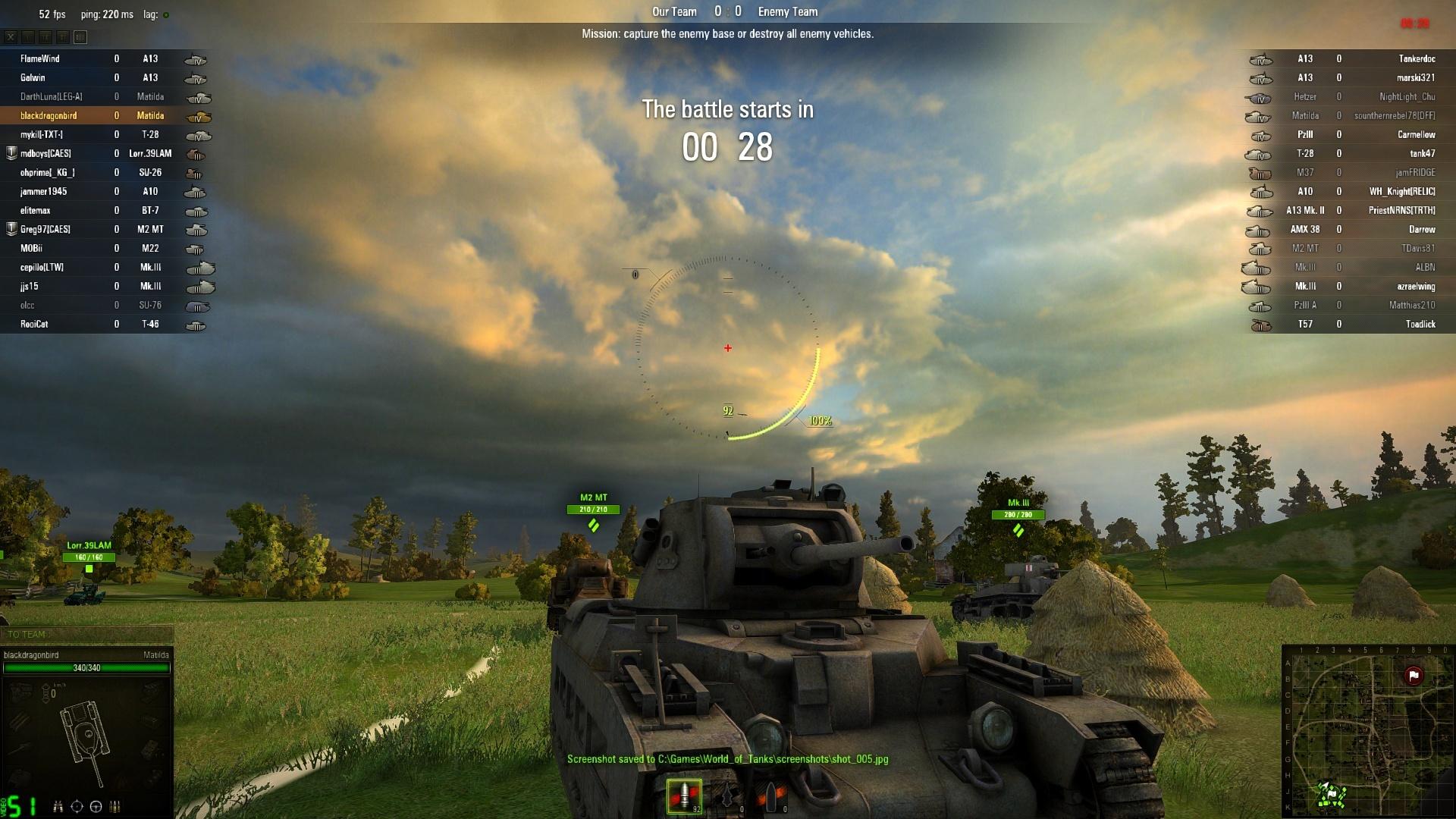 Как сделать скрин с танков