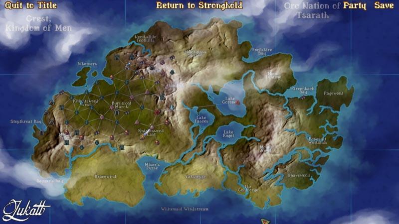 Глобальная карта после порядка 12 часов игры. Как видите, не открыта даже половина.